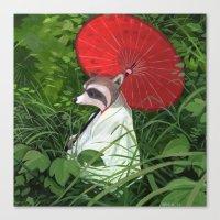 raccoon Canvas Prints featuring Raccoon by Erik Krenz