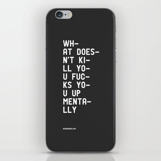 Mentally iPhone & iPod Skin