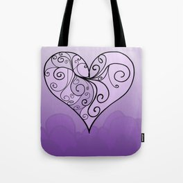 Heart Intricacy Tote Bag