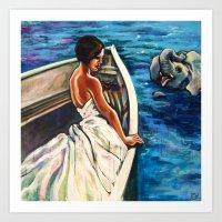 Nile Boat Ride Art Print
