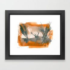 Plant and Desert Framed Art Print