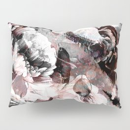 flowers - roses and black marble Pillow Sham