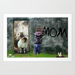 Mom by GEN Z Art Print