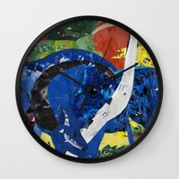 marc Wall Clocks featuring franz marc tribute by zantelier