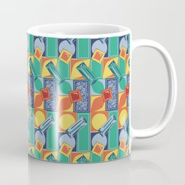 90s Jewel Primary Geometric Pattern Coffee Mug