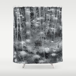 Ghostly Image Shower Curtain