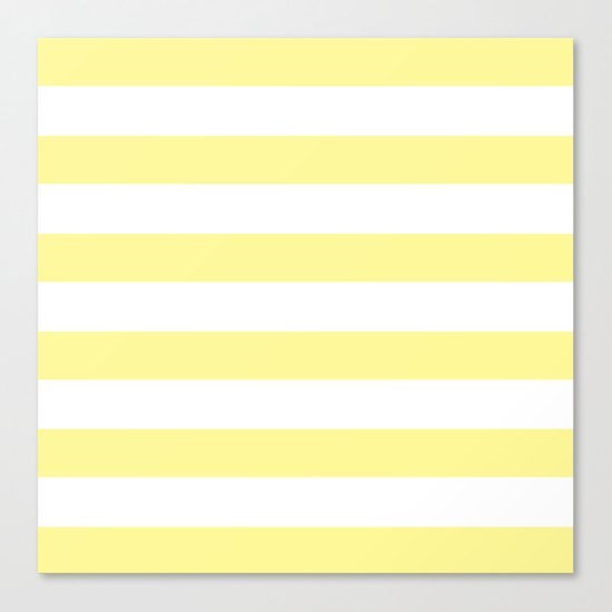 Simply Stripes in Pastel Yellow Canvas Print