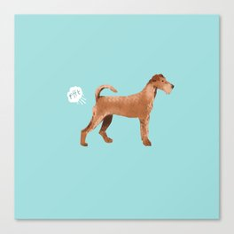 Irish Terrier farting dog cute funny dog gifts pure breed dogs Canvas Print