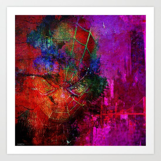 "spider""abstract""man Art Print"
