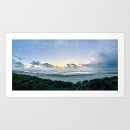 coast panorama Art Print