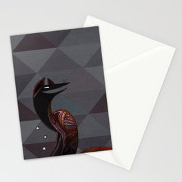 Mexican folk art coyote, Oaxacan style Stationery Cards