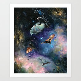 Scream of a Great Bat Art Print