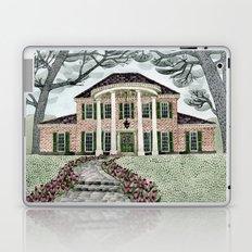 House With Tulips Laptop & iPad Skin