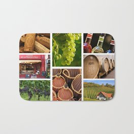 Wine and Vineyard Collage - Cafe or Kitchen Decor Bath Mat
