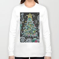 christmas tree Long Sleeve T-shirts featuring Christmas Tree by Teri Newberry
