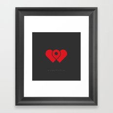 my place is with you Framed Art Print