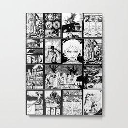 WHITE - A nne Frankenstein Book I - Resurrection Metal Print