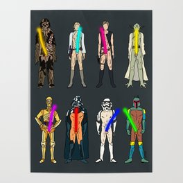 Naughty Lightsabers - Dark Poster
