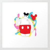 baymax Art Prints featuring Baymax by The Space Wanderer