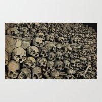 bones Area & Throw Rugs featuring Bones by andyclo
