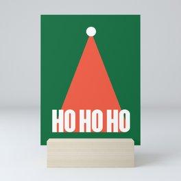 Santa Hat Ho Ho Ho Mini Art Print