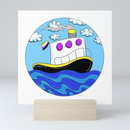 Rub N Tugboat- Nonbinary Mini Art Print