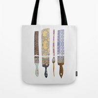 green Tote Bags featuring color your life by Bianca Green