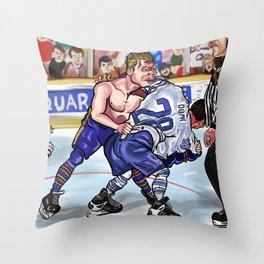 Rob Ray v Tie Domi Buffalo Toronto Fight Throw Pillow