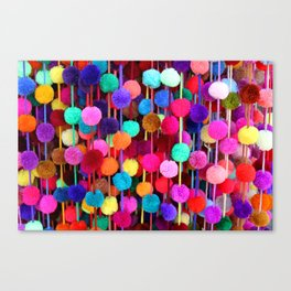 Rainbow Pom-poms (Horizontal) Canvas Print