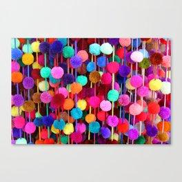 Rainbow Pom-poms (Horizontal) Canvas Print