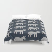 unicorns Duvet Covers featuring Unicorns  by Katelyn Patton