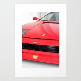 Ferrari Print by K Maono Art Print