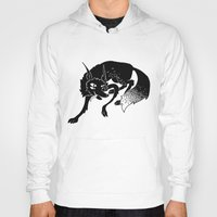 wolf Hoodies featuring Wolf by Anya Volk