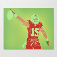 49ers Canvas Prints featuring 49ers Michael Crabtree by Courtney Charlton