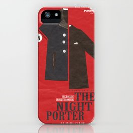 The Night Porter, movie poster, Liliana Cavani, Charlotte Rampling, Dirk Bogarde iPhone Case