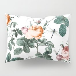 Floral and Winged Darter Pillow Sham