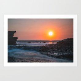 A creamy sunset Art Print