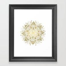 Mandala - Gold Framed Art Print