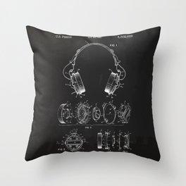 Headphone patent Throw Pillow