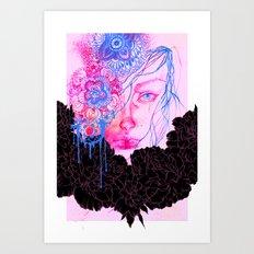 Black Peonies Art Print
