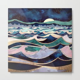 Moonlit Ocean Metal Print