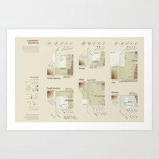 Continents' showdown (Visual Data 07) Art Print