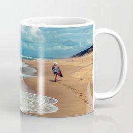 Walking Along the Beach Leaving Sandy Footprints Coffee Mug