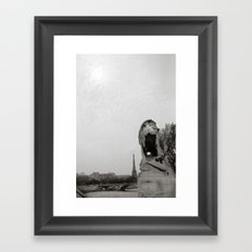Paris Lion Framed Art Print