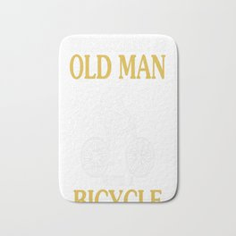 Bicycle Old Man Bath Mat