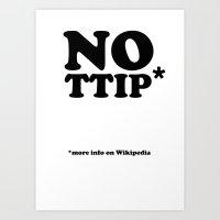 NO TTIP Art Print