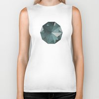 sacred geometry Biker Tanks featuring Sacred Geometry 3 - Lost triangles by Art 52