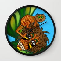 jojo Wall Clocks featuring Congo JoJo by BohemianBound