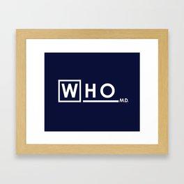 WHO MD Framed Art Print