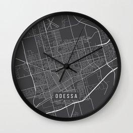 Odessa Map, USA - Gray Wall Clock